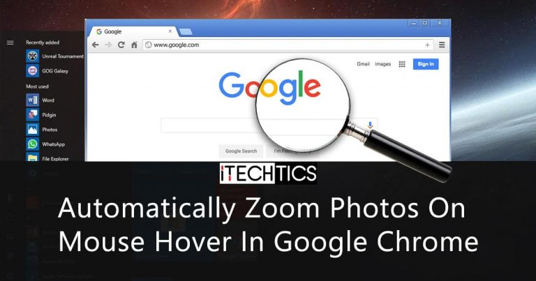 Automatically Zoom Photos On Mouse Hover In Google Chrome 1