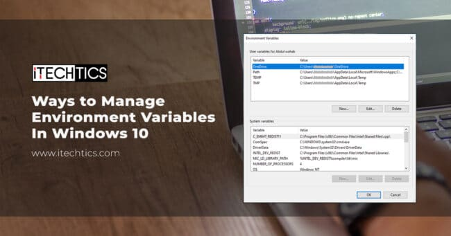 Manage Environment Variables In Windows 10