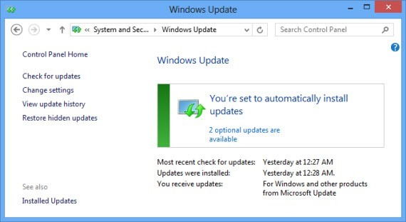 Windows Update installing Office 2010 SP2