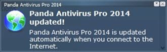 Panda Antivirus Pro 2014 update notification