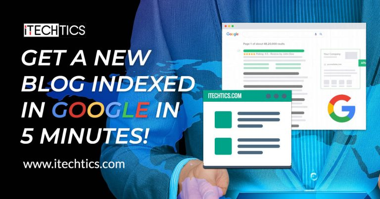 Get A New Blog Indexed In Google In 5 Minutes