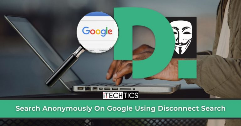 Search Anonymously On Google Using Disconnect Search