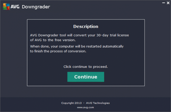 Convert AVG Internet Security Trial Into AVG Free Antivirus