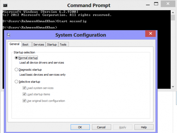 win 8.1 command prompt boot