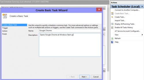 Task Scheduler in Windows 8