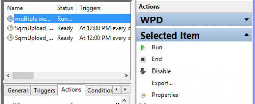 Run Task in Task Scheduler Windows 8