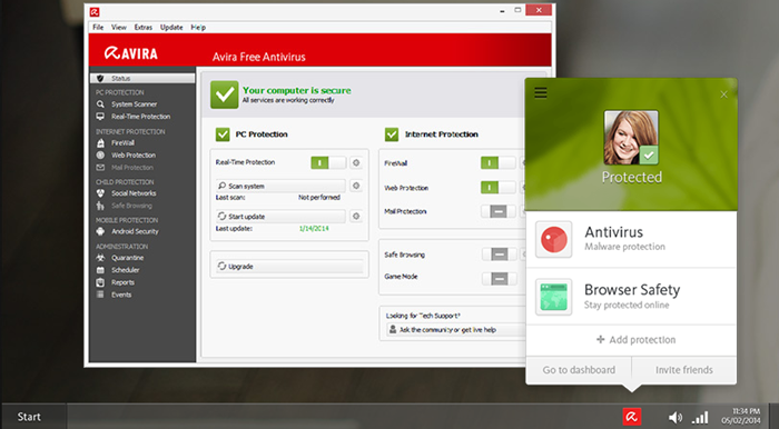 avira internet security free download 2016