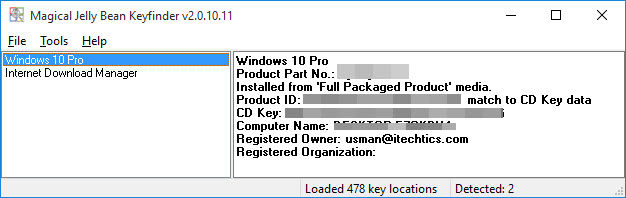 how to reveal windows 8 product key