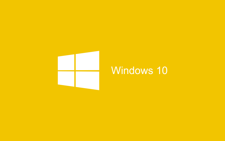 Wallpaper Windows 10 Yellow Flat