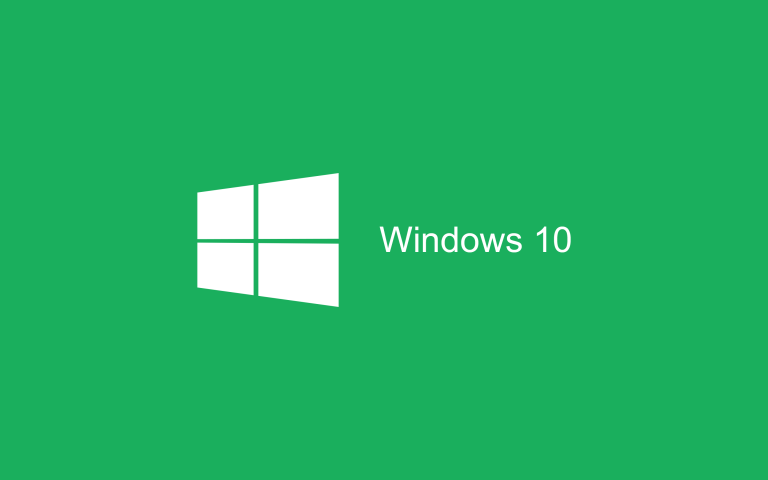 Wallpaper Windows 10 HD Green