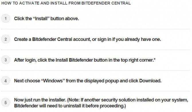Bitdefender Central download instructions