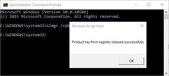 remove windows 10 product key