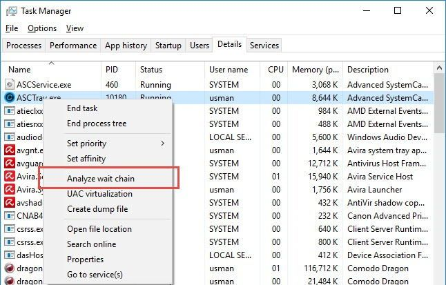 how to find which app is preventing windows from restarting