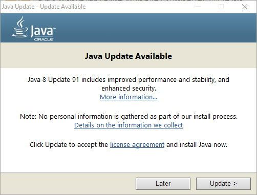 Java 8 Update 91 available for download