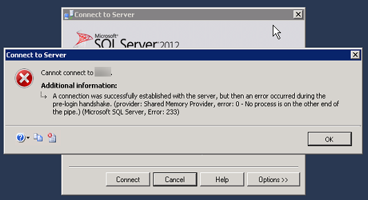 SQL Connection Error