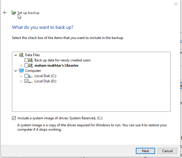 6 Free Tools To Backup Data in Windows 10 Including Windows File History Tool 9