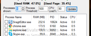 Get CPU And RAM Load Alerts With Memory Hogs