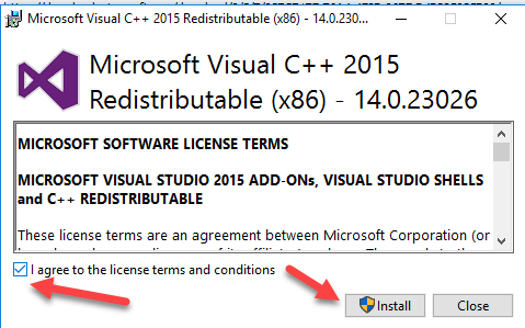 visual c++ runtime installer (all-in-one) v57