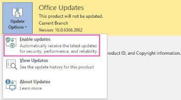 4 Ways To Disable Office 2016 Automatic Updates 5