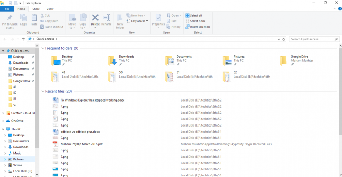 "4 Ways to Fix ""File Explorer has Stopped Working"" Error in Windows 10 1"