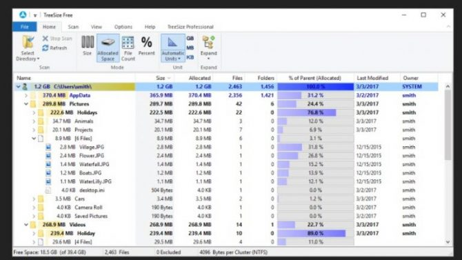 15 Tools to Visualize the File System Usage on Windows 7