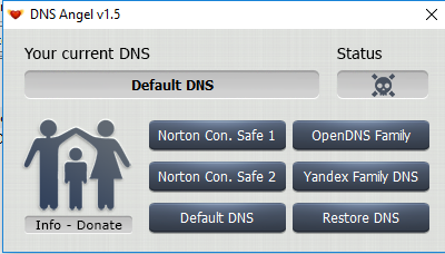 Enable Family Protection In Windows 10 Using DNS Angel 2