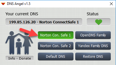 Enable Family Protection In Windows 10 Using DNS Angel 3