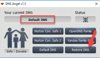Enable Family Protection In Windows 10 Using DNS Angel 4