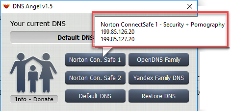 Enable Family Protection In Windows 10 Using DNS Angel 1