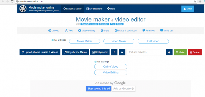 Movie Maker Online Video editor