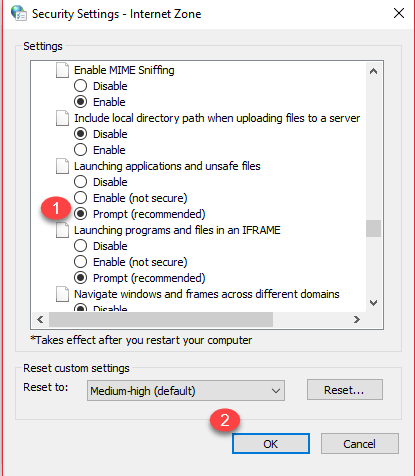 Fix: Unable To Download Any EXE File In Windows 10 2