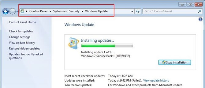 download all the windows 7 updates