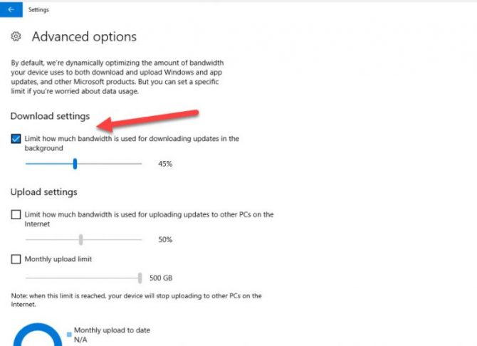 Limit Windows Updates Bandwidth Usage In Windows 10 5