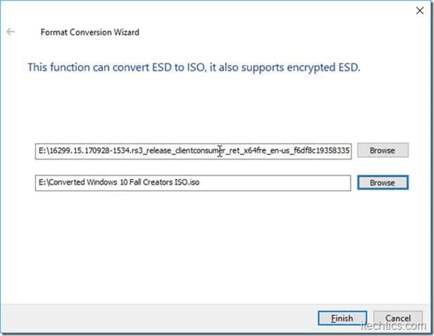 ESD to ISO  file converter