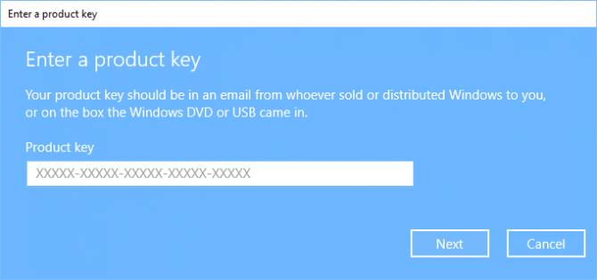 microsoft activation key windows 10