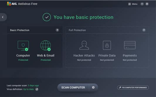 Download AVG 2019 Free Antivirus + Internet Security + Ultimate 1