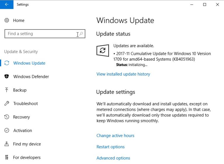 Download Cumulative KB4051963, KB4054022 for Windows 10
