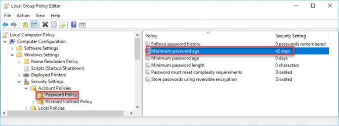command prompt password never expires