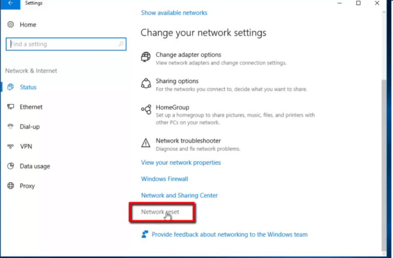 How To Reset Network Settings In Windows 10 3