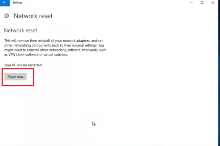 How To Reset Network Settings In Windows 10 4