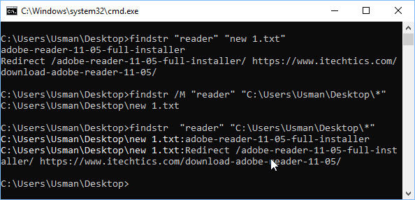 Findstr: Find Specific String In Files With Windows Command