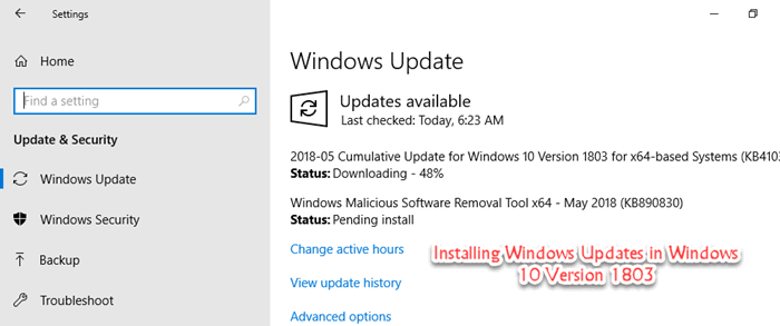 Download KB4343909 Cumulative Update For Windows 10 Version 1803
