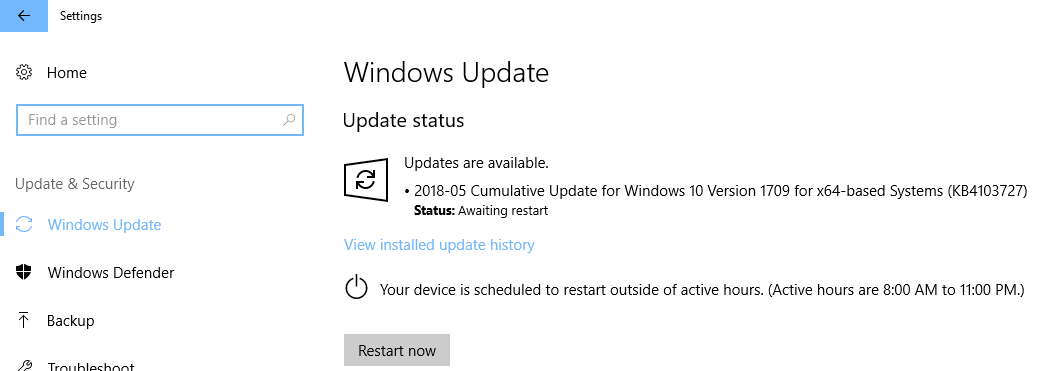 Download KB4343897 Cumulative Update For Windows 10 Version 1709