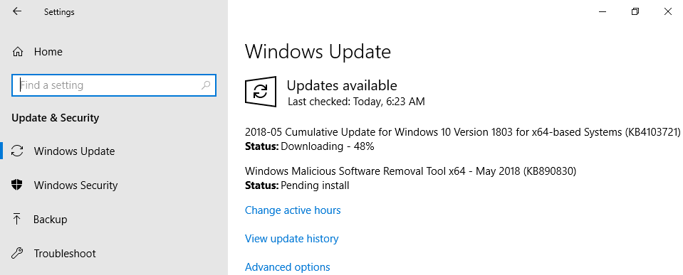 Download KB4103721 Cumulative Update For Windows 10 Version 1803 May