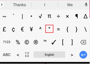 How To Insert Degree Symbol In Windows, Mac, Android And iOS 11
