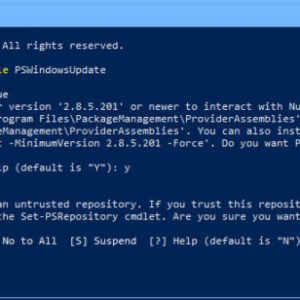 How To Run Windows Update From Command Line