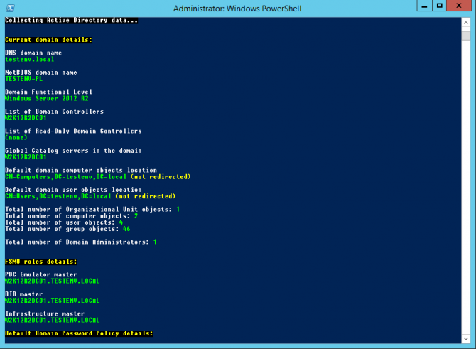 Collecting Active Directory Data using PowerShell