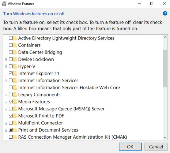 4 Ways To Enable/Disable Optional Windows Features 2