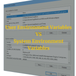 Windows system variables and user environment variables 1