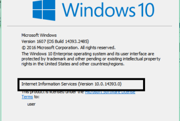 5 Ways To Check Installed Version of IIS in Windows 9